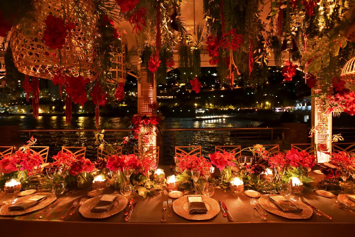 jungle theme birthday dinner with sea view monaco