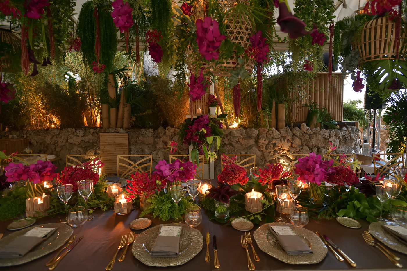 Luxury decor with tropical theme for birthday in montecarlo
