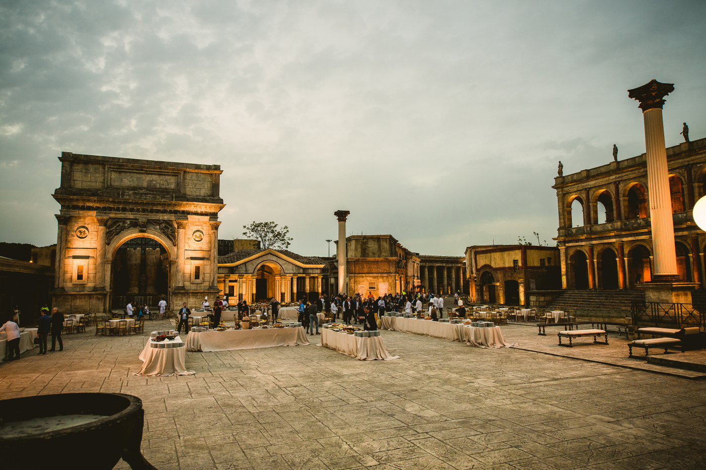 Corporate event in Ancient rome setting