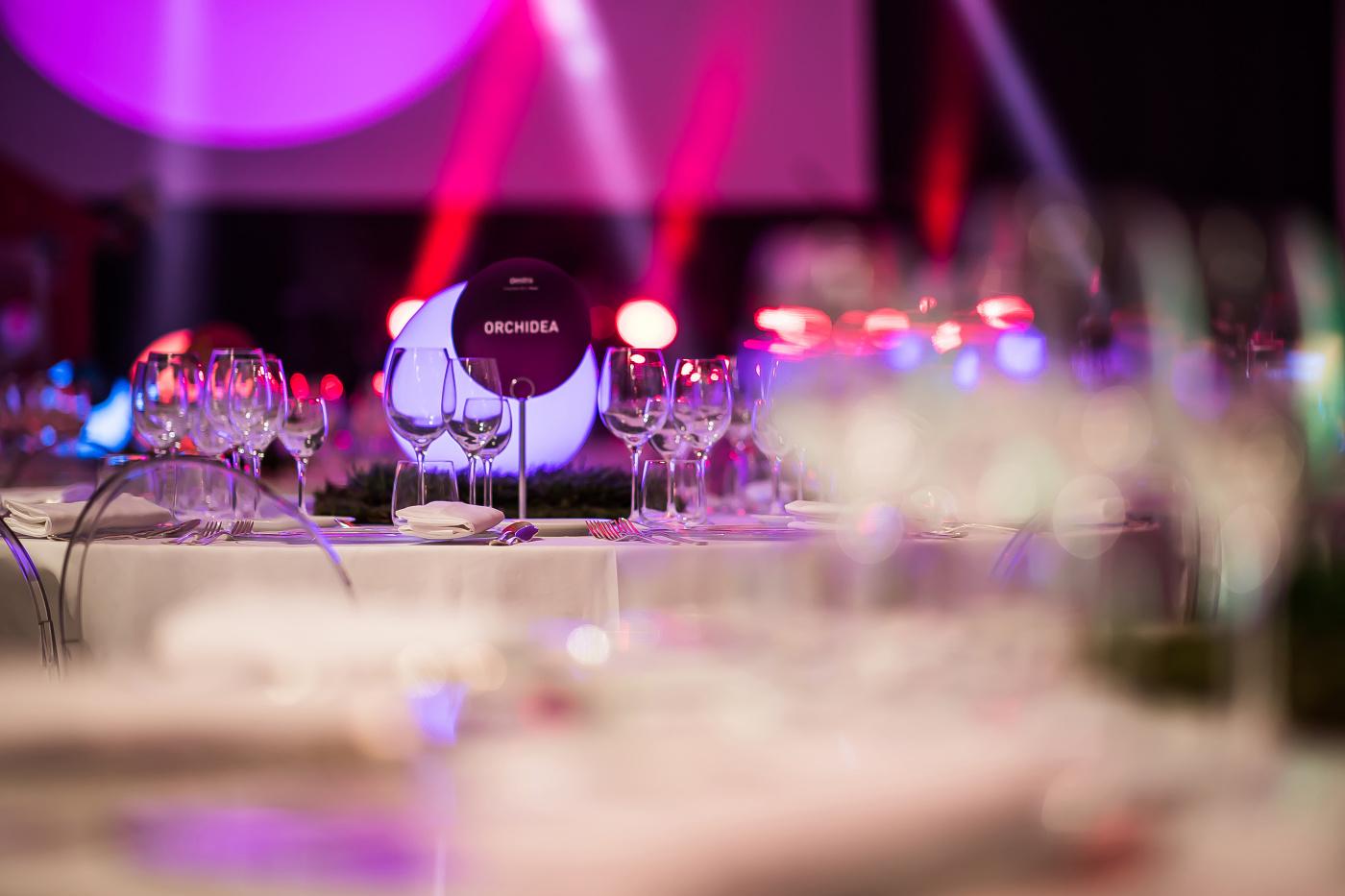 light design for corporate event rome