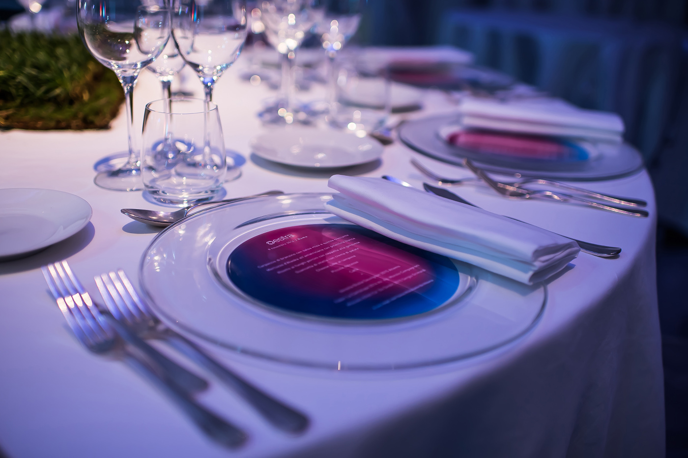 table setting for company event in rome