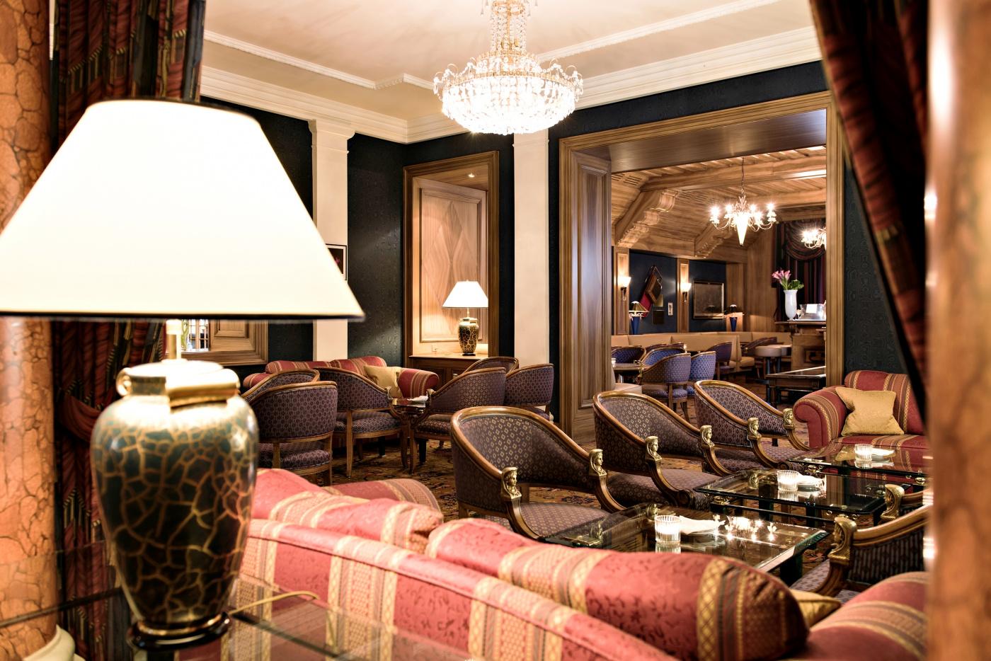 Charming bar area hotel saint moritz kulm