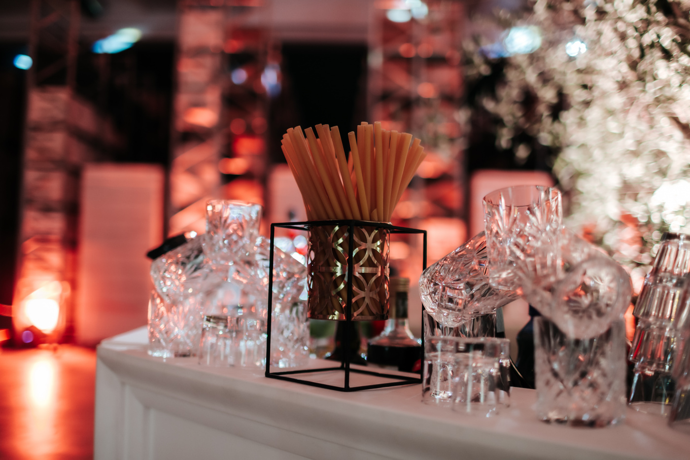 American bar details for corporate event