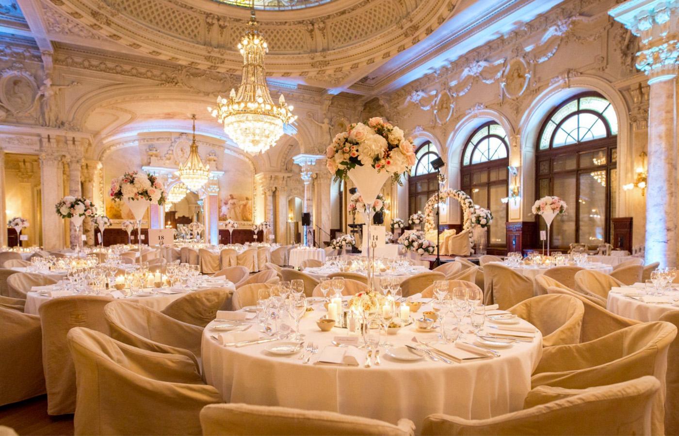 Ballroom for weddings in a luxury resort Lake Geneva