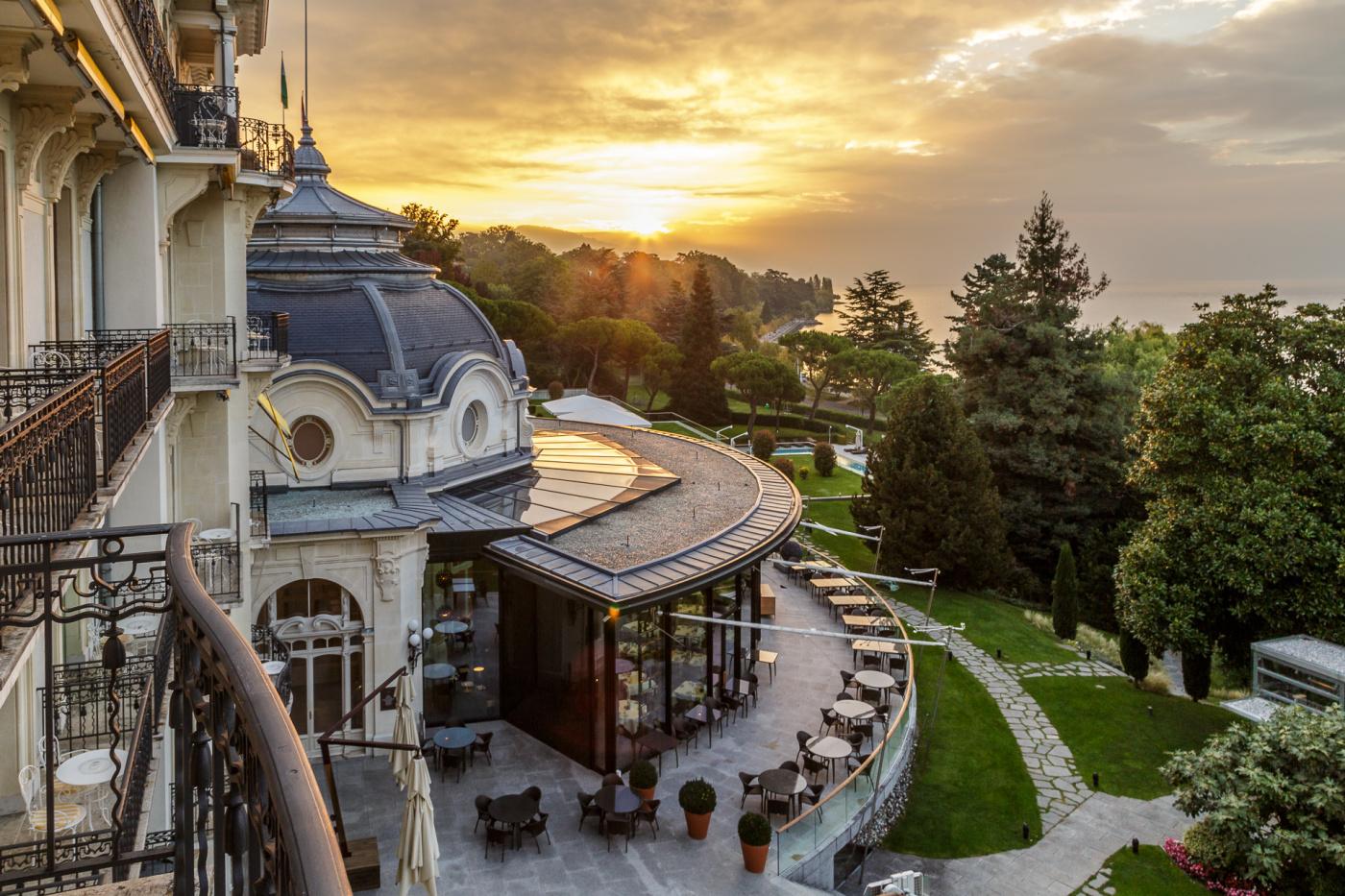 Garden with lake view Lake Geneva