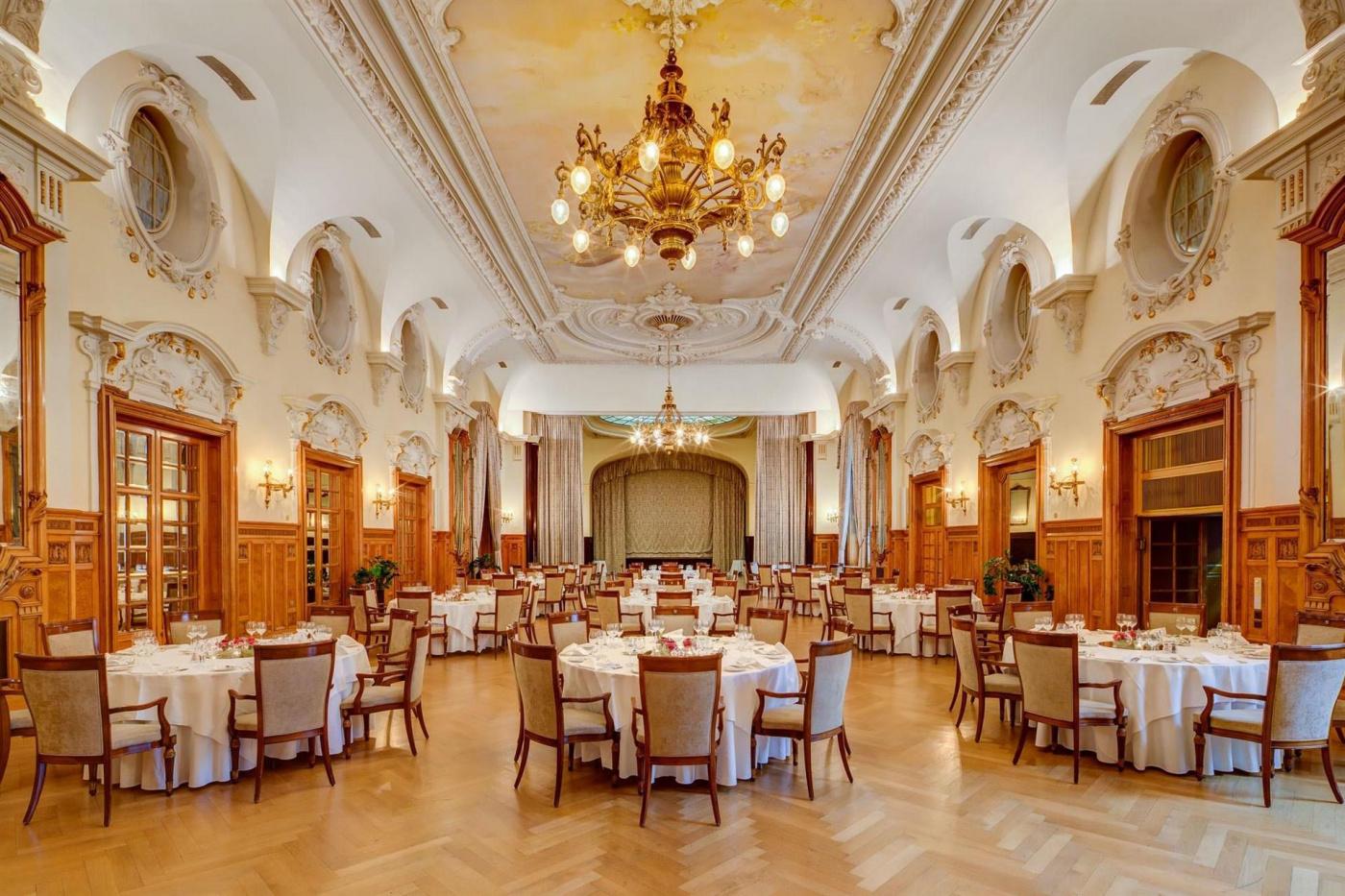 Ballroom Switzerland resort wedding lake Geneva