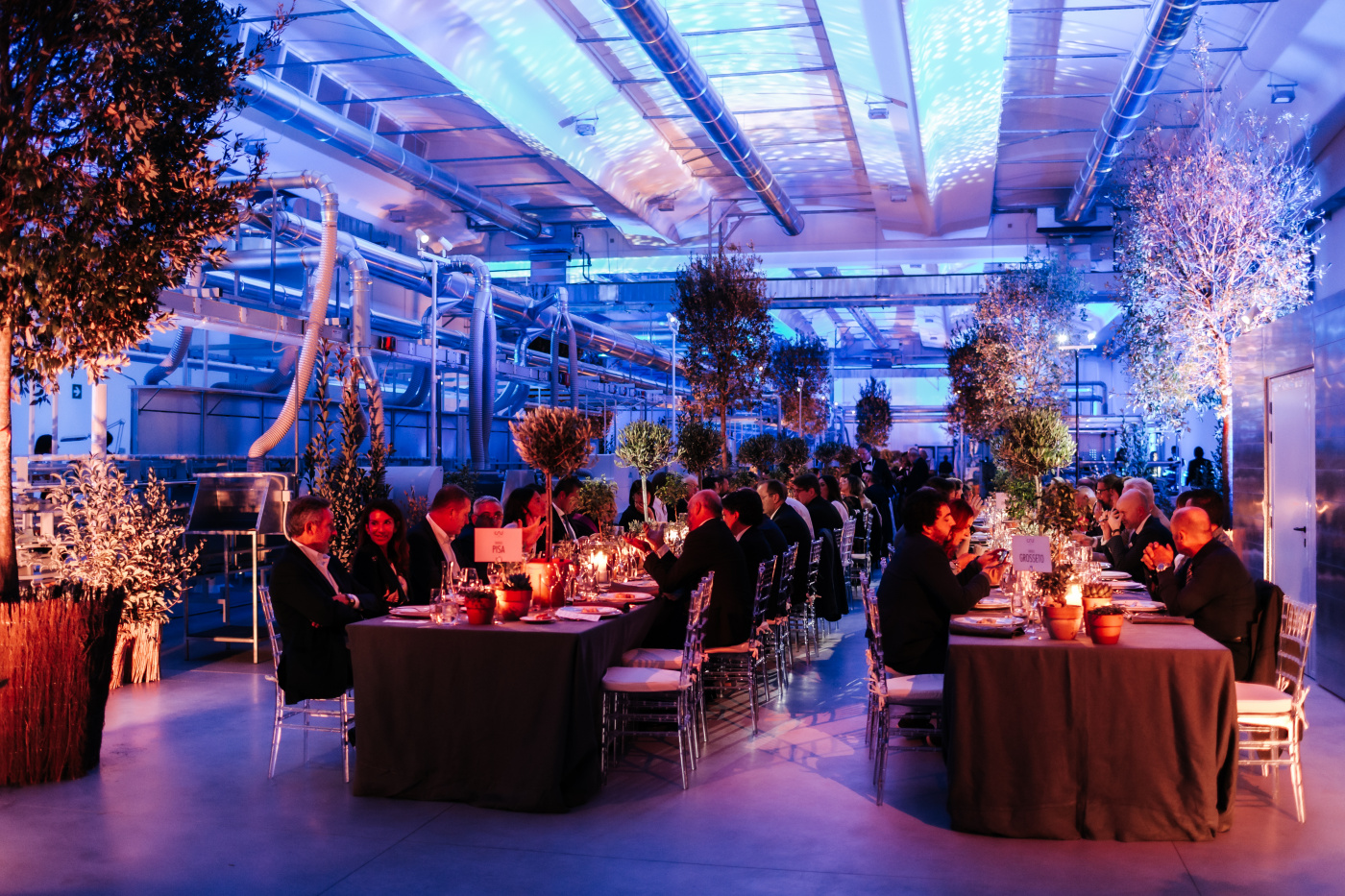 Garden style decor for a corporate event