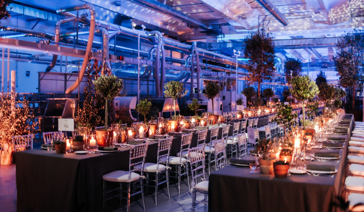 Dinner for the new opening of factory with secret garden theme