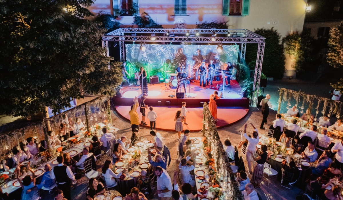 Luxury birthday party with stage and dancing floor